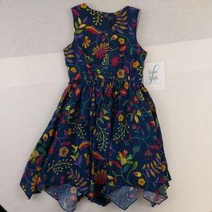Cynthia Rowly girls floural dress size 6x
